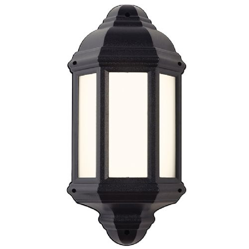 POLYCARB E27 HALF LANTERN WALL LIGHT BXEL-40114-17 (Class 2 Double Insulated)